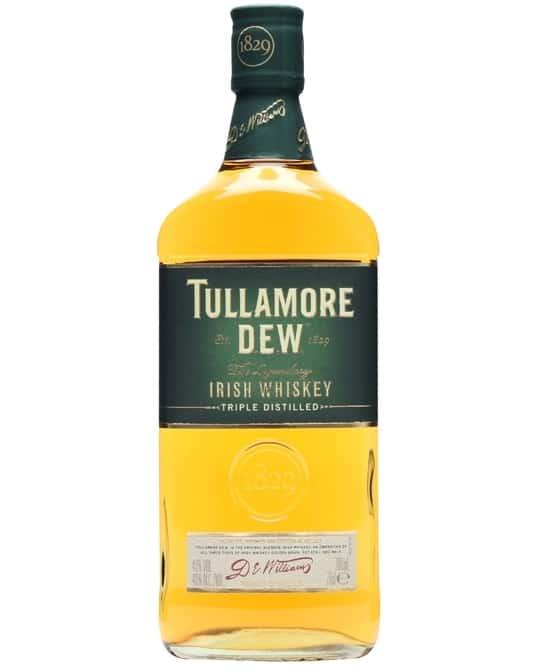 tullamore d.e.w blended irish whiskey bottle