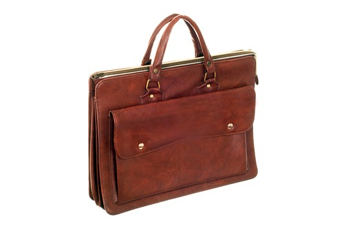 The Tumi Astor Regis Slim Zip Top Leather Briefcase
