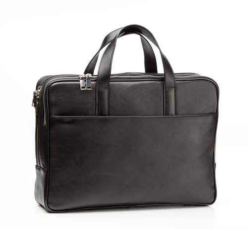 Tumi Astor Regis Slim Zip Top Leather Laptop Bags For Men