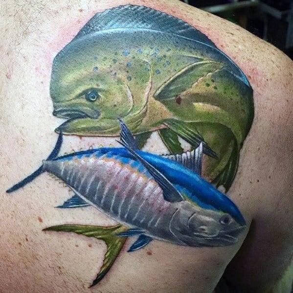 Tuna Tattoo On Man