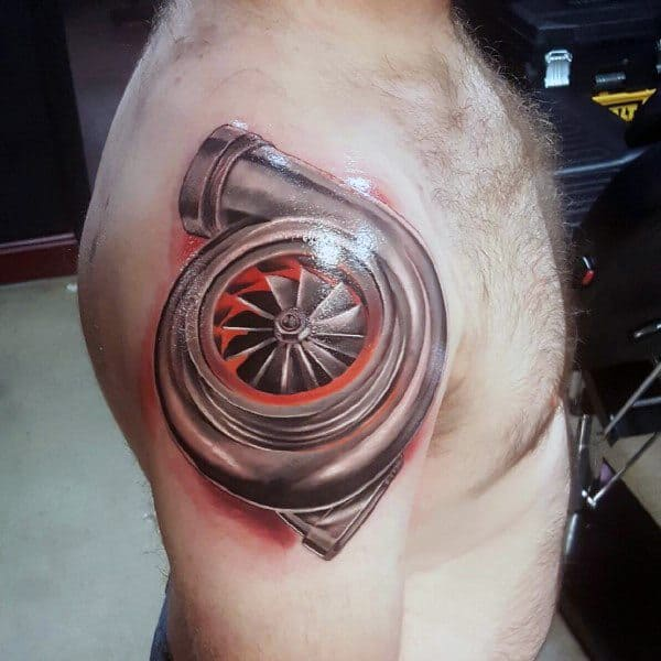 Turbo Themed Tattoo Design Inspiration