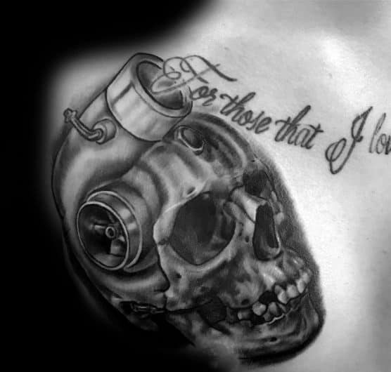 Turbo Themed Tattoo Ideas For Men