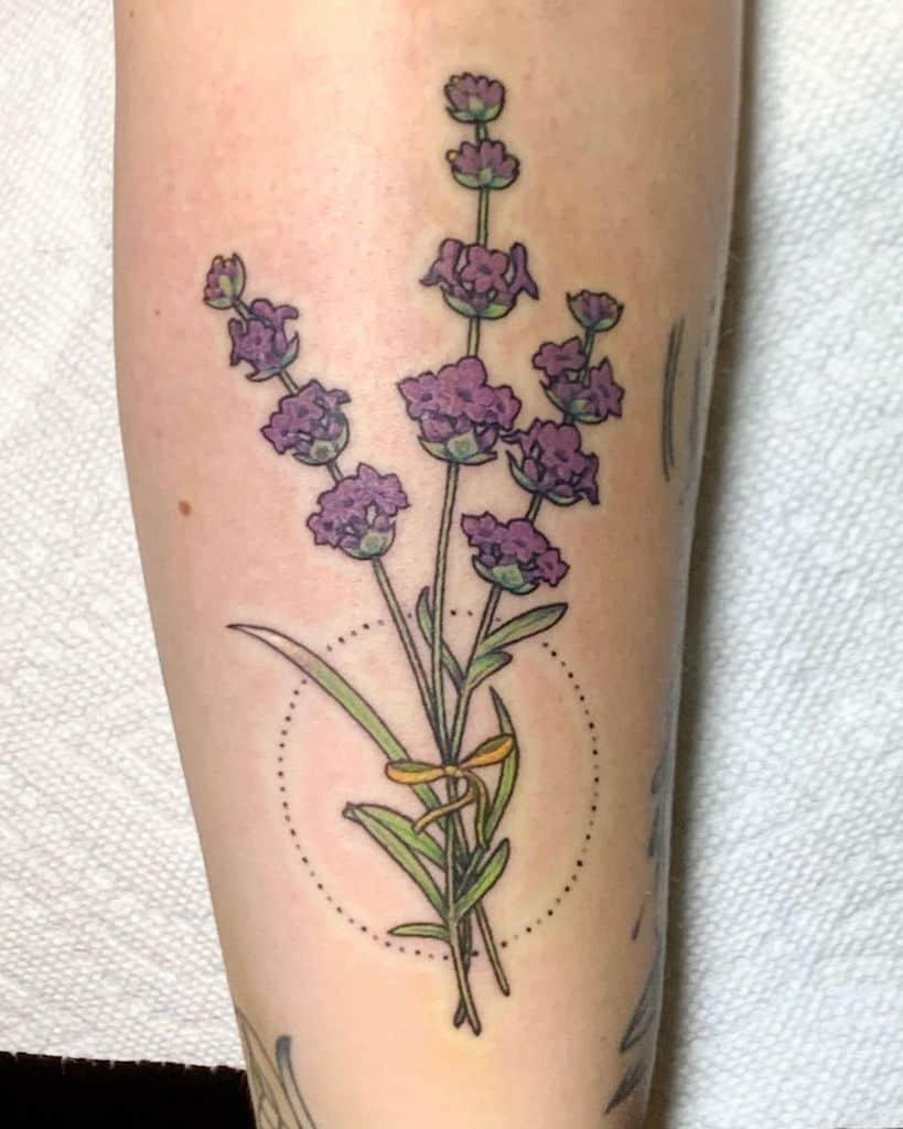 Turtle Carter Lavander Tattoo