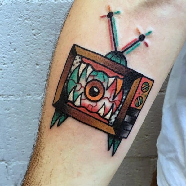 Tv Tattoo Designs For Gentlemen