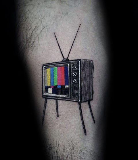 Tv Tattoos For Gentlemen