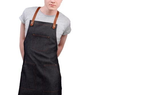 Twig And Bones Canvas And Genuine Leather Apron For Men