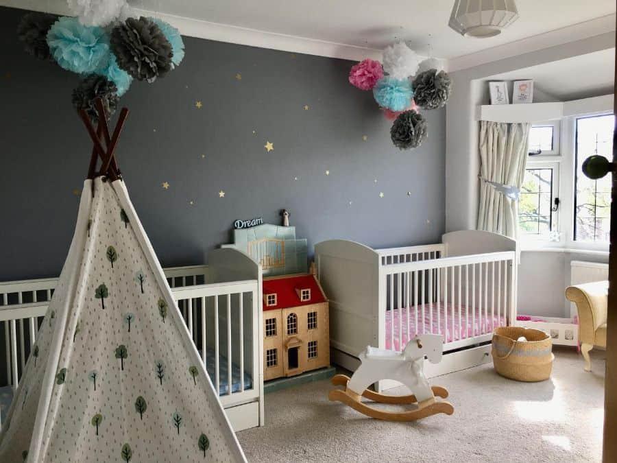 Twin Nursery Ideas Housebuiltupontherock