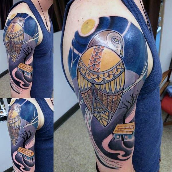 Twin Peaks Half Sleeve Mens Tattoos