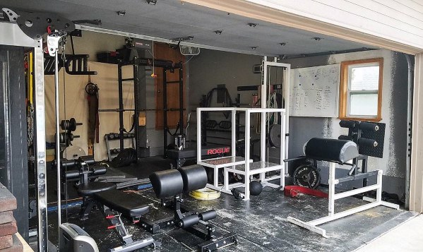 two car garage home gym ideas - Home Gym Ideas