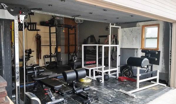 Two Car Garage Home Gym Ideas