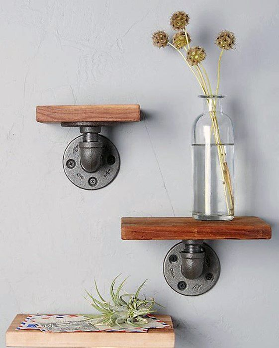 Two Cast Iron Pipe Shelves Cheap Man Cave Idea Inspiration