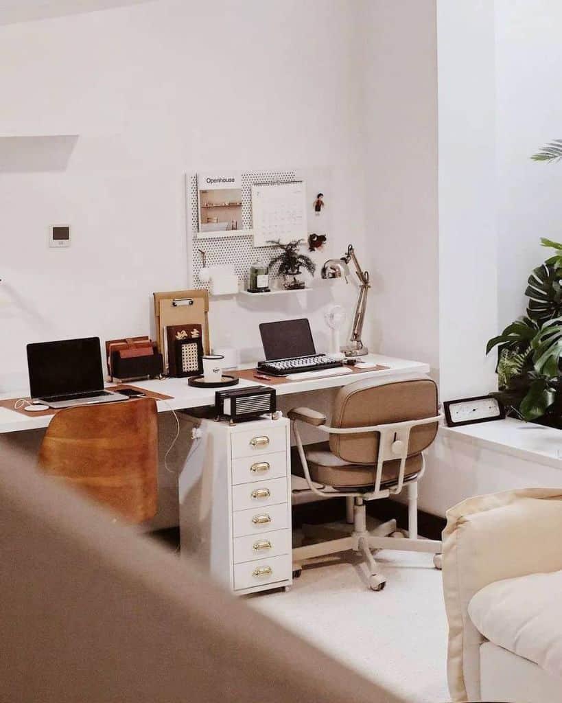 two desk setup ideas homieshomettes