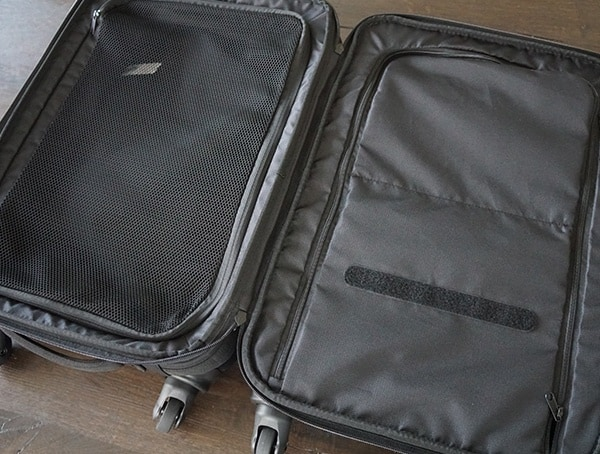 Two Main Compartments On Interior Gio Alpha Convoy 522s Travel Bag