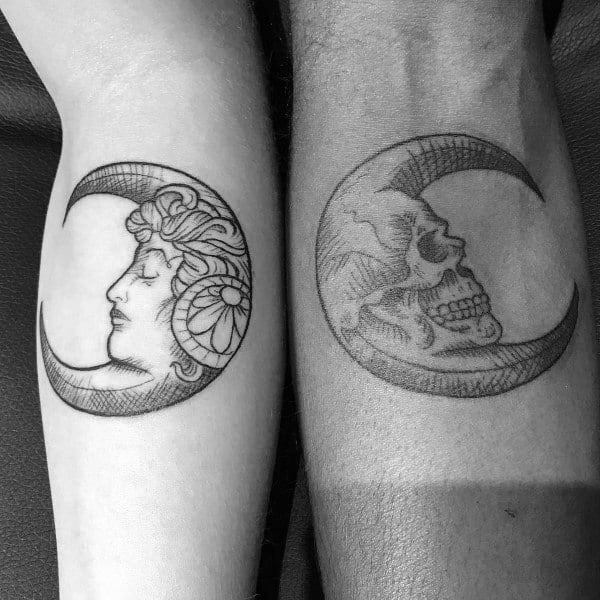 58ec0a0a03724 Top 100 Best Matching Couple Tattoos - Connected Design Ideas