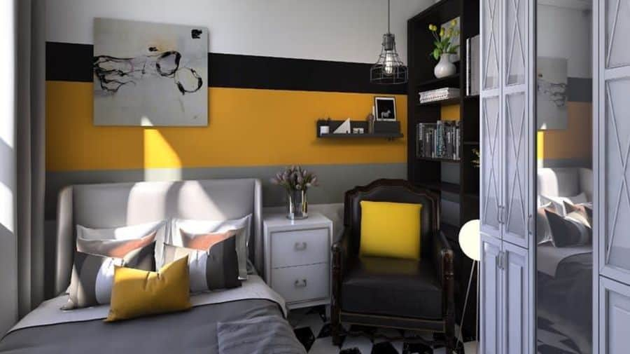 two or multitone bedroom paint ideas interior.broodings