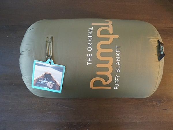 Two Person Burnt Olive Rumpl Original Puffy Blanket