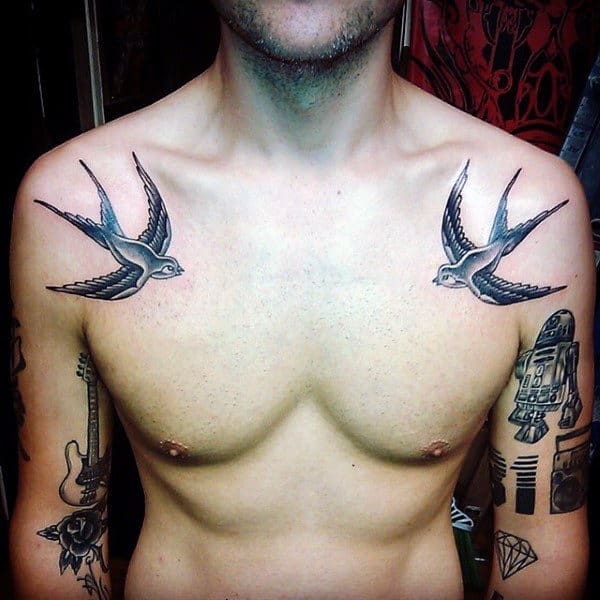 Sparrow tattoo for men - photo#21