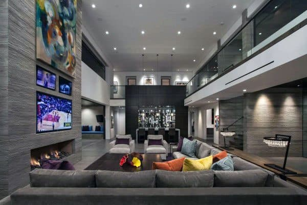 Two Story Bar Great Room Ideas