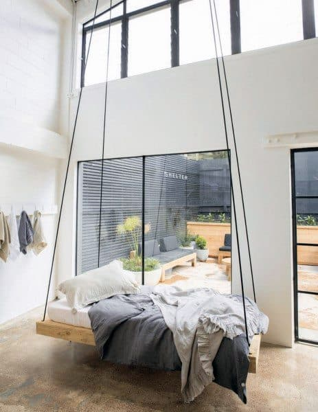 Two Story Bedroom Hanging Bed Ideas