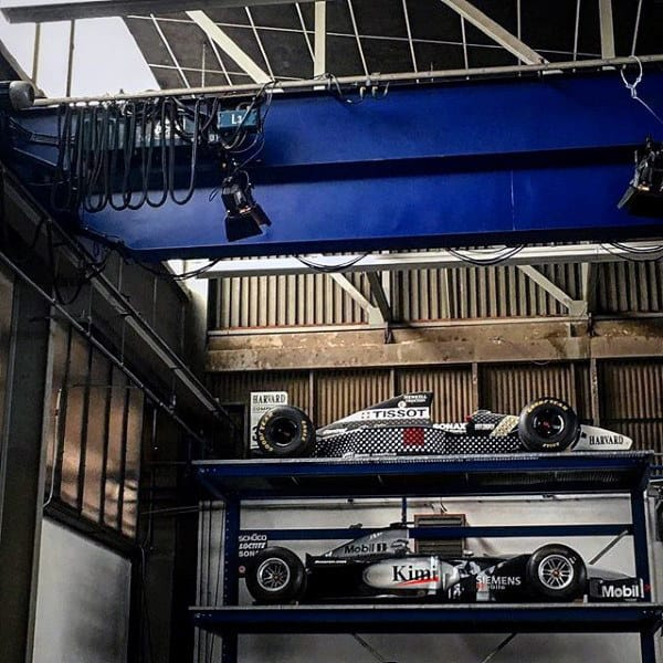 Two Story Formula F1 Racing Cars In Dream Garage