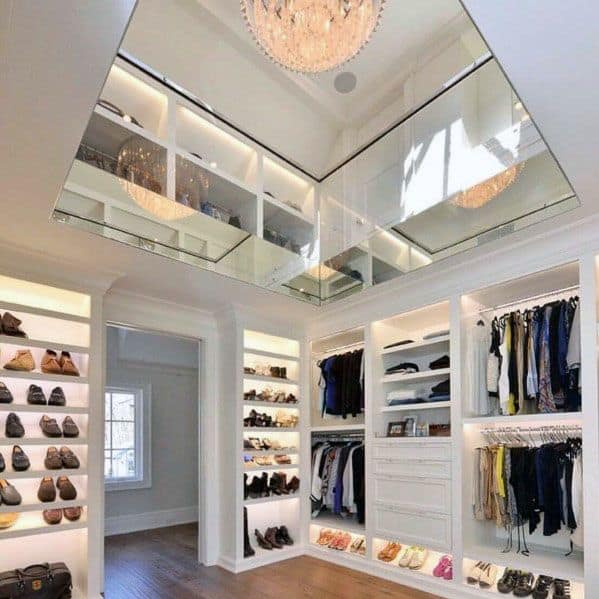 Two Story Interior Designs Closet Lighting