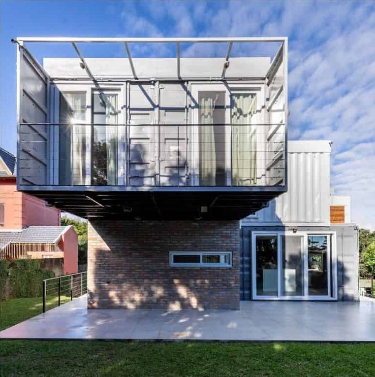 Two Story Shipping Container Home Ksarquitetos