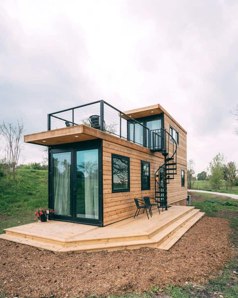 Two Story Shipping Container Home Levimkelly