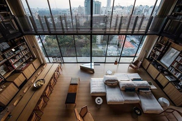 Two Story Ultimate Bachelor Pad Living Spacec
