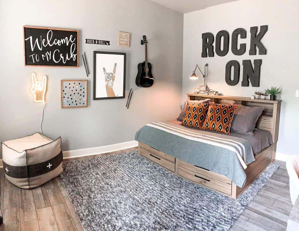 Two Tone Bedroom Paint Colors Debbie.does.design