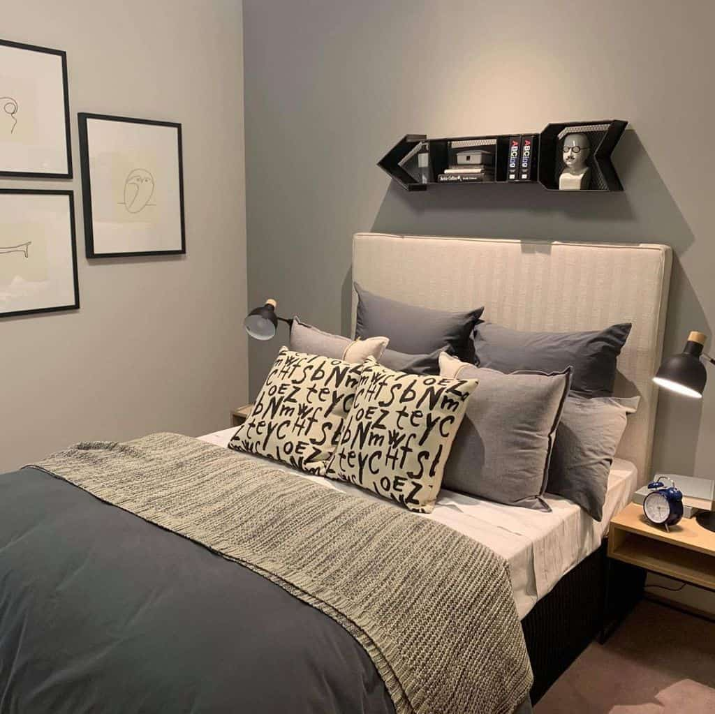 Two Tone Bedroom Paint Colors Homebeautybargains