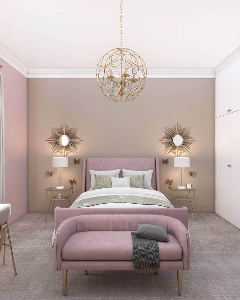 Two Tone Bedroom Paint Colors Nadeensamara.interiordesign