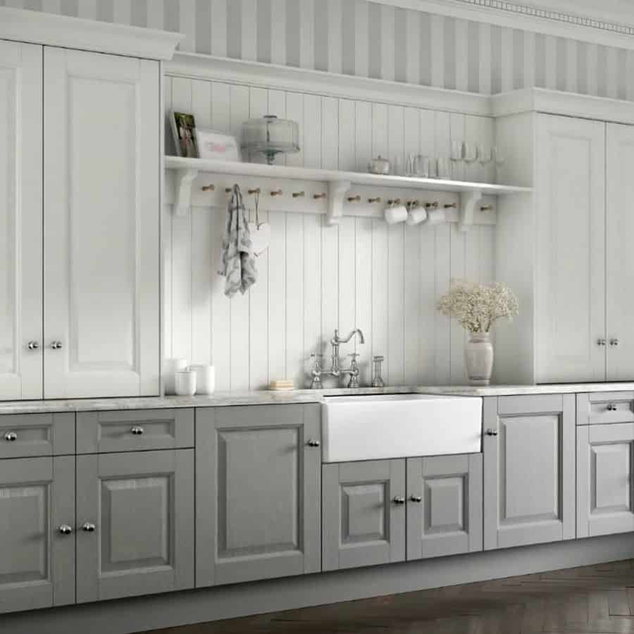Two Tone Kitchen Paint Colors Lakitchencollections