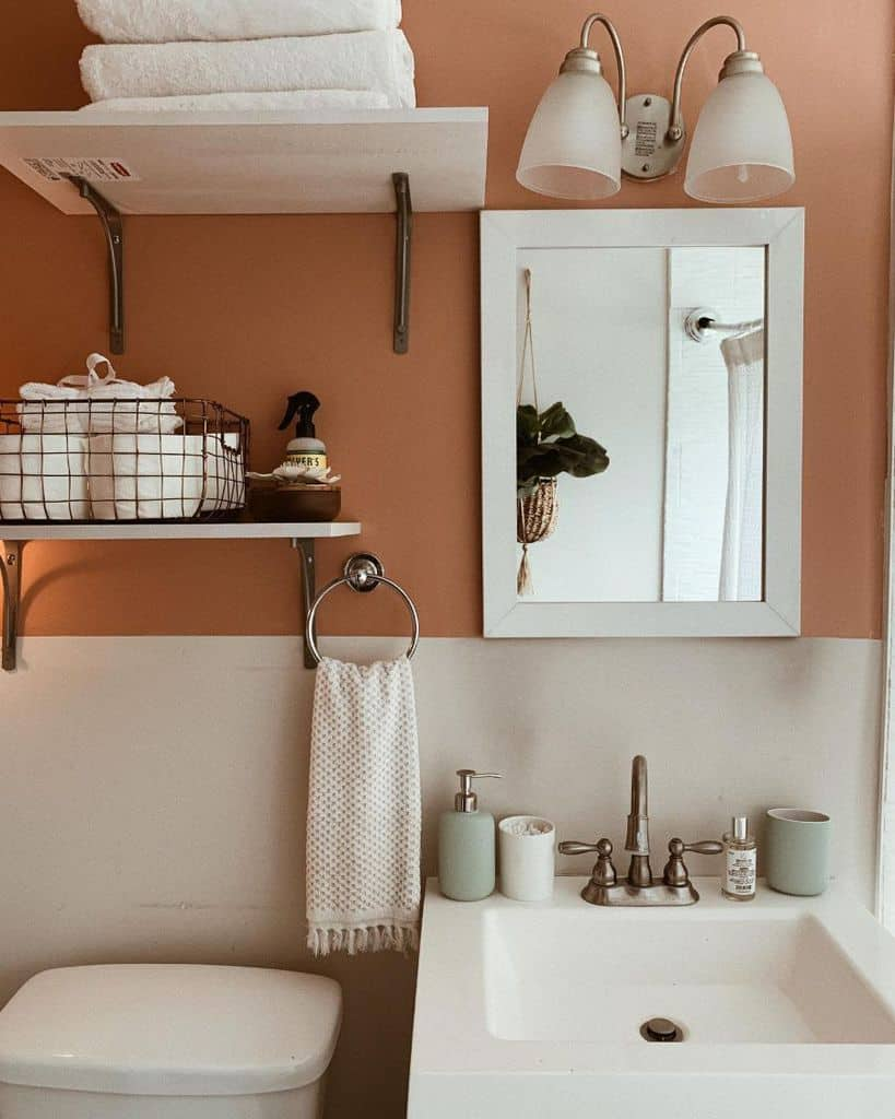 Two Tone Small Bathroom Paint Ideas Ytadesigns