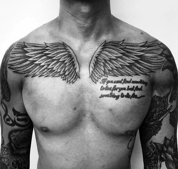 40 Wing Chest Tattoo Designs For Men