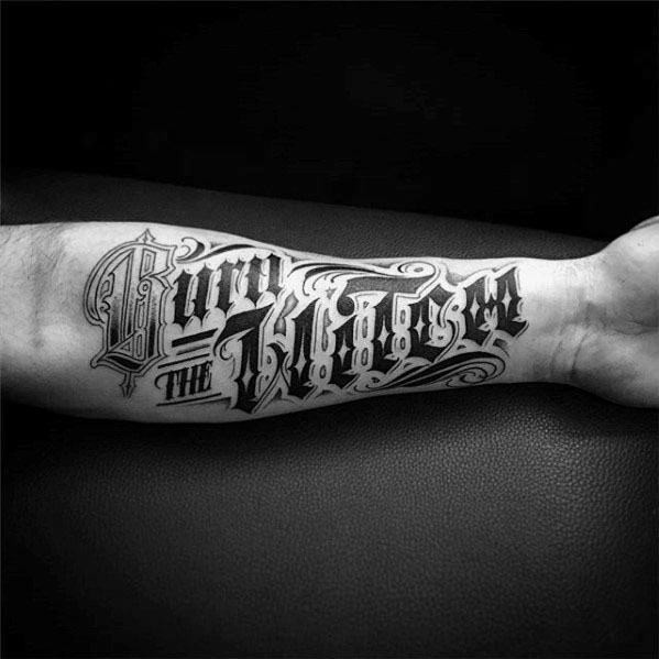 60 Typography Tattoos For Men