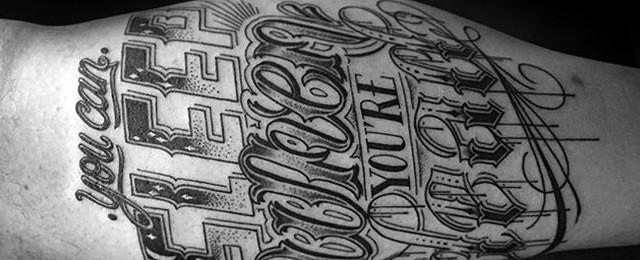 Typography Tattoos For Men