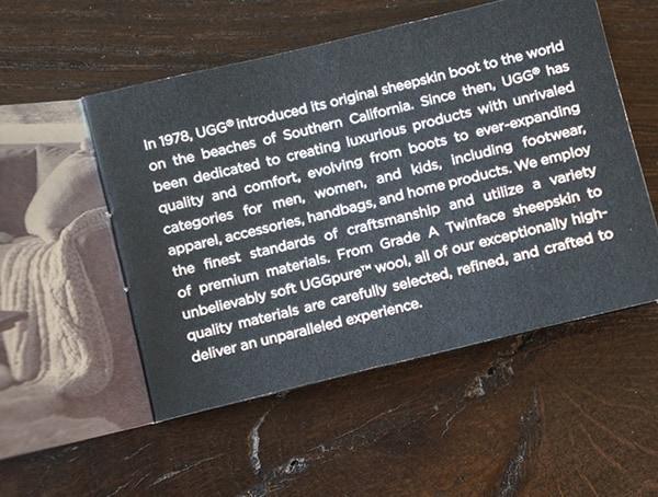 Ugg Company History Card