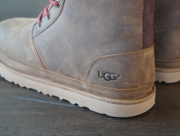 Ugg Detail On Full Grain Leather Harkley Boots For Men