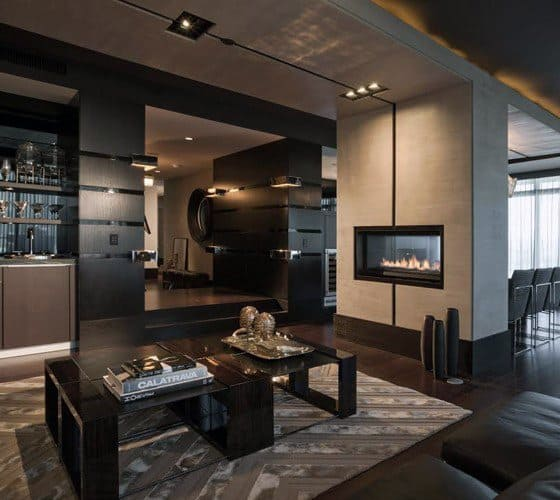 50 ultimate bachelor pad designs for men luxury interior for Living room designs for bachelors