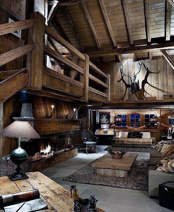 Ultimate Rustic Cabin Mens Bachelor Pad