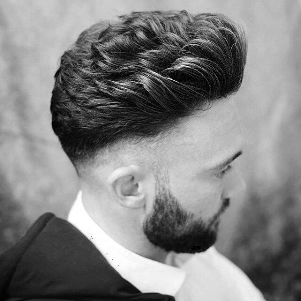Ultra Curly Skin Fade Haircut For Men With Thick Hair Medium Length