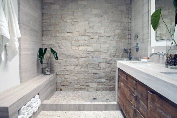 Ultra Long Shower Bench Interior Ideas