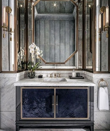 Ultra Luxury Half Bath Ideas