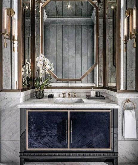 Ultra Luxury Half Bath Ideas