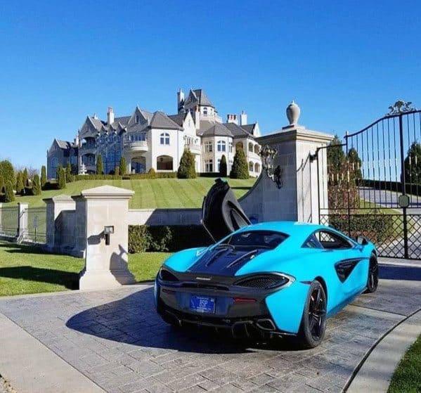 Ultra Luxury Home Concrete Driveway Ideas