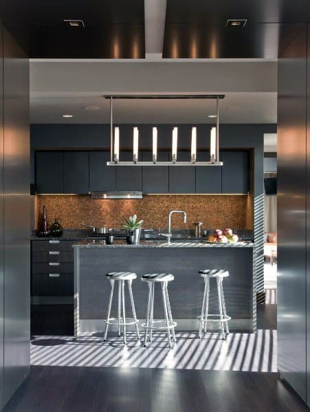 Ultra Modern Black Kitchen Cabinet