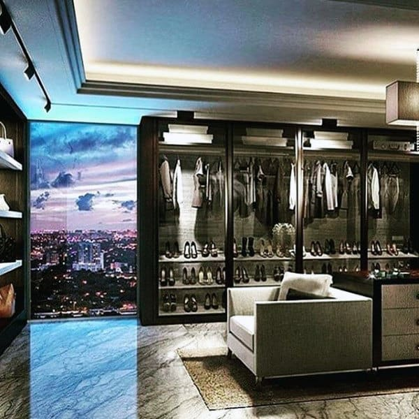 Ultra Modern Class Cabinet Closet Design For Men