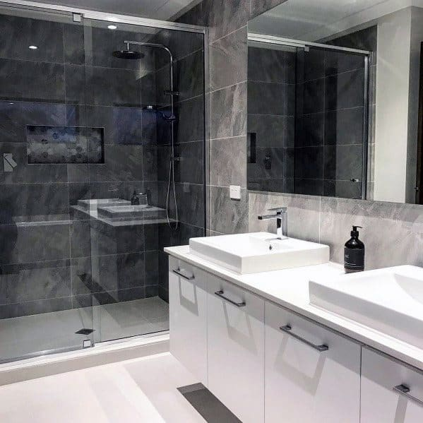 Ultra Modern Design Ideas Grey Bathroom Tile