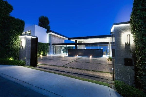 Ultra Modern Driveway Ideas With Led Lighting