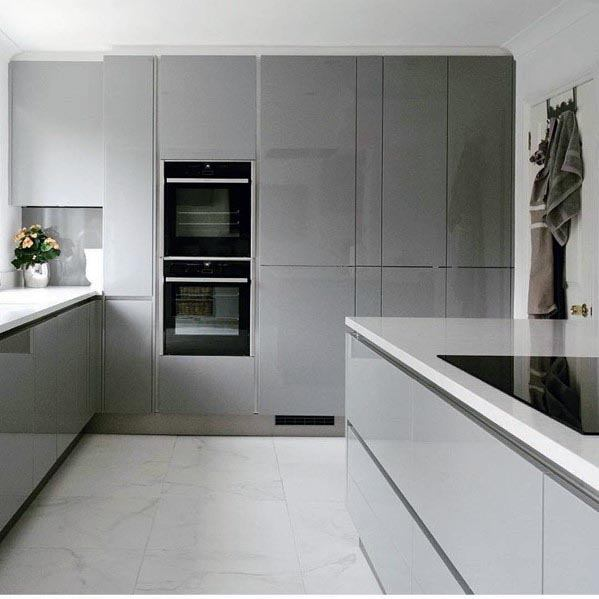 New Home Designs Latest Ultra Modern Kitchen Designs Ideas: Top 50 Best Grey Kitchen Ideas